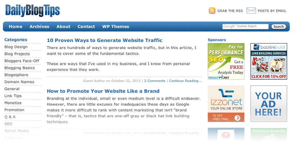 Daily Blog Tips The 10 Best Blogs to Help You Get Traffic